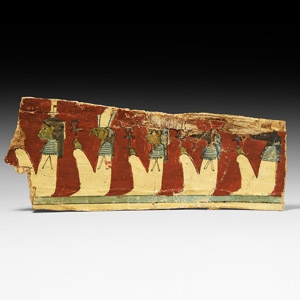 Cartonnage Section with Horus and Anubis