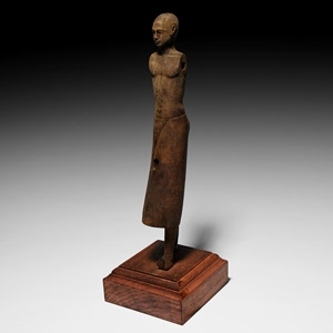 Large Egyptian Wooden Statue of a Noble