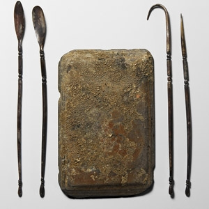 Silver Implement Set with Palette