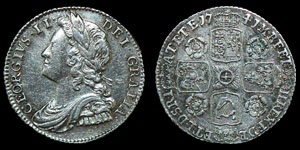 English Milled George II - 1741 - Roses Sixpence