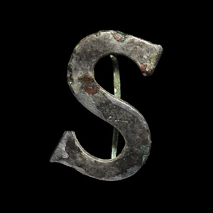 Roman Silvered S-Shaped Brooch