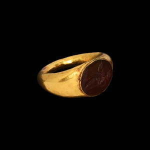 Gold Ring with Salus