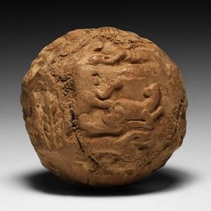Sumerian Decorated Bulla Envelope Containing Tokens