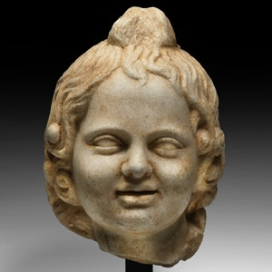 Marble Head of Harpocrates