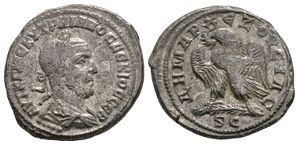 Roman Provincial Coins - Trajan Decius - Antioch - Eagle Tetradrachm