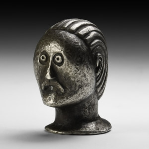 Iron Age Silver Moustached Head Mount