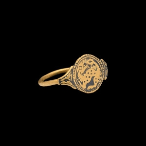 Ottonian Gold Ring with Beast