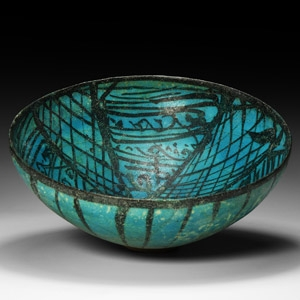 Kushan Blue-Glazed Bowl
