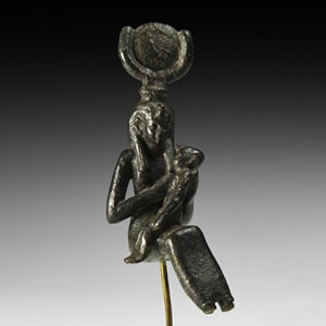 Egyptian Isis and Horus Statuette