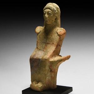 Greek Seated Lady Statuette