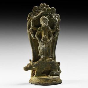 South East Asian Figure of Durga Mahishauramardini