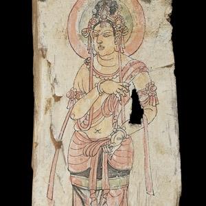 Chinese Painted Panels with Bodhisattva