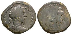 Roman Imperial Coins - Marcus Aurelius - Italia Sestertius