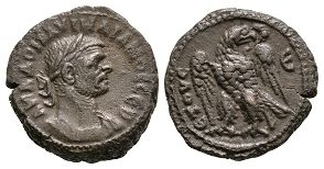 Roman Provincial Coins - Aurelian - Alexandria - Ae Tetradrachm