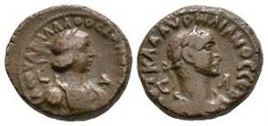 Roman Provincial Coins - Aurelian and Vabalathus - Alexandria - AE Tetradrachm