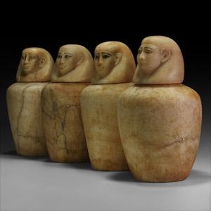 Egyptian Human-Headed Canopic Jars