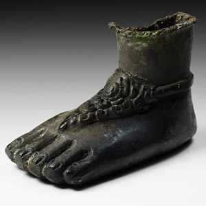 South Asian Statue Foot with Anklet