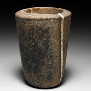 Bactrian Veined Limestone Vessel