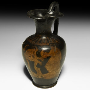 Greek Attic Red Figure Oinochoe