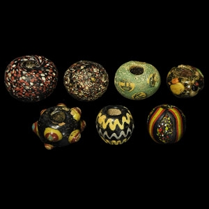 and Other Large Glass Bead Collection