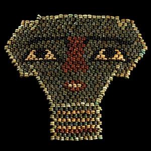 Egyptian Bead mummy Mask