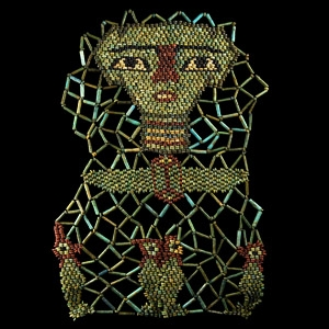Bead Mummy Mask with Sons of Horus
