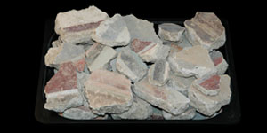 Roman - Forty pieces of Decorated Wall Plaster