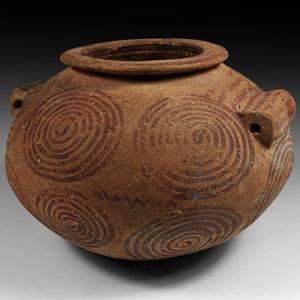 Egyptian Painted Storage Jar