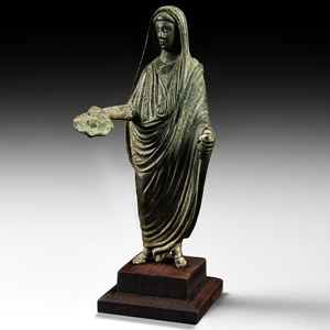 Cloaked Statuette with Patera