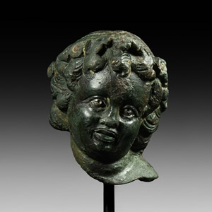 Head of child Bacchus with Inlaid Eyes