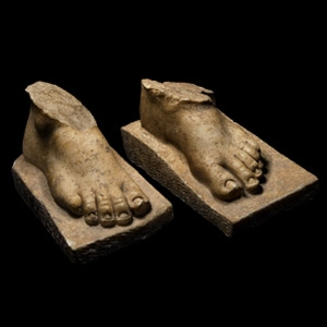 Marble Statue Foot Pair