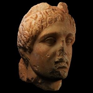 Roman Marble Head of Mercury