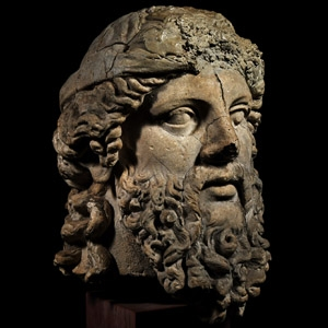 Large Renaissance Herm Bust of a Philosopher