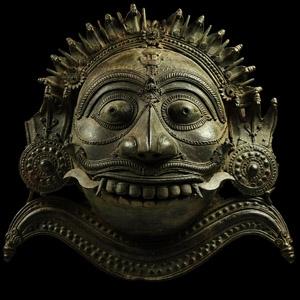 South East Asian Bronze Shiva Mask