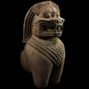 South East Asian Khmer Guardian Figure