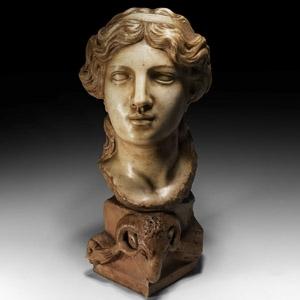 Renaissance Circle of Simone Bianco, Marble Head of an Idealised Woman AllAntica