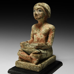 Wooden Seated Scribe