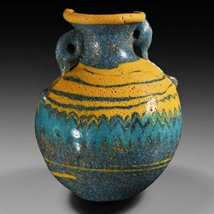 Etruscan Core-Formed Glass Aryballos