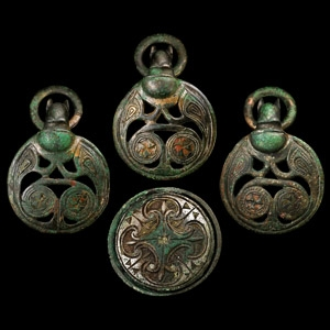The Scotch Corner Anglo-Saxon Hanging Bowl Mounts and Bowl