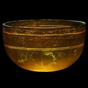 Hellenistic Amber Glass Bowl