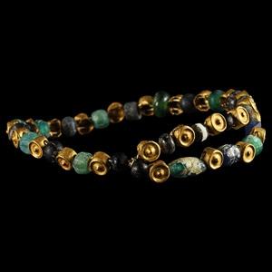 Gold and Glass Bracelet