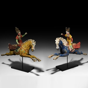 Chinese Tang Polo Player Pair