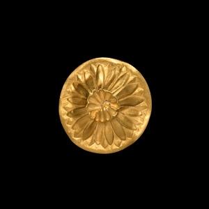 Hellenistic Gold Floral Strap Mount