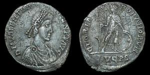 Roman Valentinian II - Lyons - Miliarensis