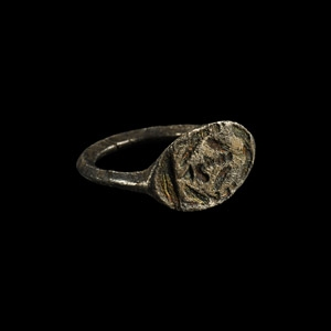 Silver Ring with Horus the Child