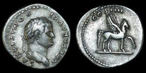 Roman Domitian - Ephesus - Denarius