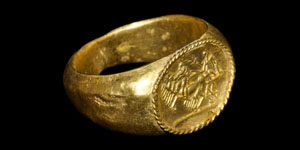 Roman Quadriga Chariot Gold Ring
