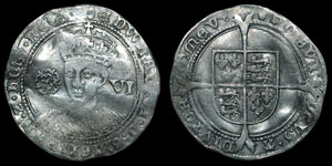 English Tudor - Edward VI - Fine Silver Issue - Sixpence