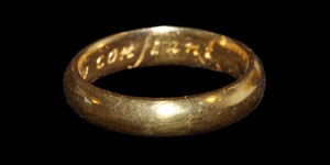 Post Medieval Continew Constant Gold Posy Ring