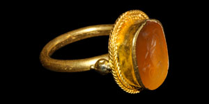 Graeco-Roman Fortuna Gold Ring
